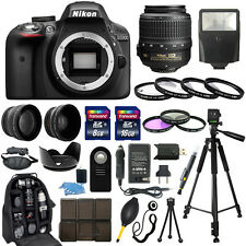 Nikon D3300 DSLR Camera +18-55mm VR NIKKOR Lens + 30 Piece Accessory Bundle