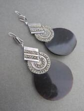 Vintage Art Deco Silver Marcasite Earrings Amazing Drop Earrings