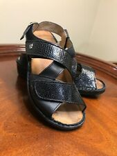 Finn Comfort Soft Sintra Sandals Black Leather Triple Straps 36 US 5.5-6 Women