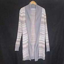 Maurices long duster sweater cardigan Large open front south west stretchy gray