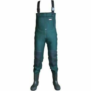NEW Leeda Neoprene Green Fishing Chest Waders Size 10 UK