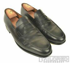 JOHN LOBB $1300 Lopez Black Leather Loafer Dress Shoes w/ BOX - UK 9.5 / US 10.5