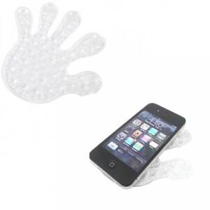 CLEAR DOUBLE SIDED SUCTION CUP HOLDER HAND SHAPE MOUNT STAND FOR for SMARTPHONES