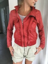 CLOSED Damen Lederjacke Bikerjacke rot tolles Leder Größe S