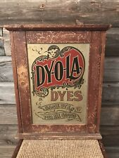 Vintage Dyola Dyes Store Display Cabinet
