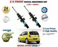 FOR SKODA CITIGO 1.0 2011->NEW 2 X FRONT LEFT + RIGHT SHOCK ABSORBER SHOCKER SET