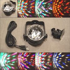 Car Disco DJ Stage LED RGB Crystal Ball Party Lamp Light Civic Accord Camry Xb