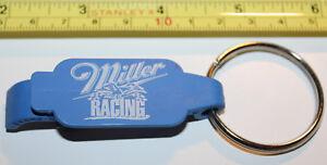 Miller Racing Plastic Bottle Opener Key Chain Keychain