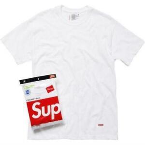 Supreme Hanes Tagless White Tee Shirt 3 Pack