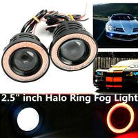 "Paar 2,5"" Nebelscheinwerfer Auto COB LED Eagle Eye Tagfahrlicht DRL Motorrad"