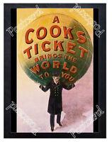 Historic Thomas Cook travel agency Advertising Postcard