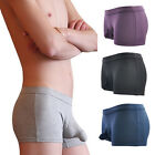 Men's Comfortable Underwear Breathable Sexy Boxer Briefs Thong Pouch Underpants