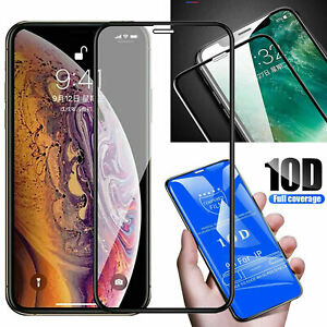 Tempered Glass FULL 10D Screen Protector For iPhone   Pro Max 7+ 6s SE [2020]