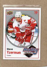 steve yzerman detroit red wings 2010/11 hh6 hockey heroes card