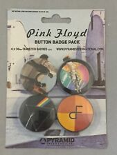 NEW SET OF 4 BUTTON BADGES PINK FLOYD MUSIC PACKAGED