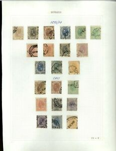 Romania 1893-1901 Album Page Of Stamps #V20307