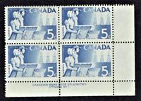 1955 CANADA 50th Alberta-Sask. Issue Plt# Blk of 4 Sc#355  MINT/NH/OG Pristine