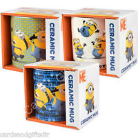 Despicable Me Mug Mugs Minions Blue White Yellow Dancing Throwing Powered