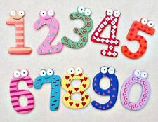 Funky Fun Colourful Wooden Magnetic Numbers Alphabet Letters Fridge Magnet Toy