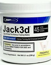 USP LABS JACK3D 248g  PRE WORKOUT 45 SERVINGS NOT MICRO FRUIT PUNCH