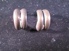 VERY OLD SCREWBACK HOOP EARRINGS 925 STERLING SILVER ESTATE C1