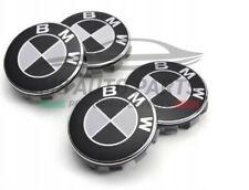 SET 4 TAPPI COPRIMOZZO BMW 68 mm 65 mm NERI BORCHIE LOGO SERIE 1 2 3 4 5 6 7 Z X