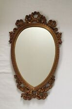 Ornate Decorative Oval Wall Hanging Mirror Gilded Frame 63/38cm