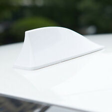 1PCS Universal Car Auto Shark Fin Roof Antenna Radio FM/AM Decorate Aerial WHITE
