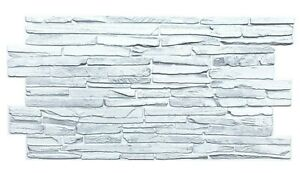 PVC 3D Wall Panels Decorative Covering Tile Cladding White Light Grey Effect