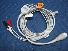 New 3 Lead EKG ECG Cable with Leads 4 HP Agilent Philips Patient Monitor 12 Pin