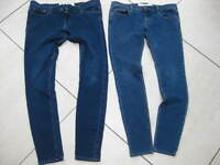 Womens PERFECT STRETCH ABERCROMBIE & FITCH blue JEANS JEGGINGS UK4 UK 8-10