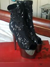 Womens shoes size 7 M Stripper Stilleto Booties by Pleaser Never Been Worn