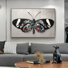 Black&White Butterfly Graffiti Artwork Canvas Painting Wall Art Print Picture