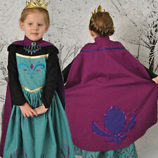 Girls Frozen Anna Elsa Costume Princess Dress Party Crown Cosplay Sets Outfit