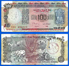 India 100 Rupees 1979 Sign 87 Farmer Lion Free Shipping World Skrill Paypal OK