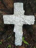 "Mold plaster cement abs plastic ivy cross mold casting mould  9""  x 6""  x 1/2"""