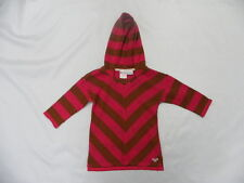Roxy Star Gazer Pink and Brown Girl Teenie Wahine Hoodie Sweater Sz 5