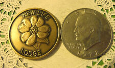 Commerative large/dollar size /heavy medal/Token /New Life Lodge #204