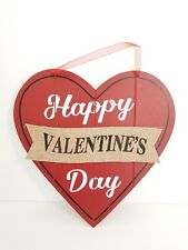 Valentines Day Heart door decor wall hanging sign wreath rustic boho quote