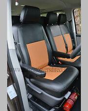 VW Transporter T5 MINIBUS 9 Seater Tailored Van Seat Covers Black & Tan