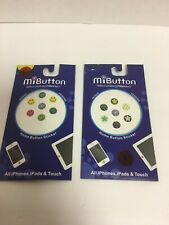 MI BUTTON HOME BUTTON STICKER ALL IPHONE, IPADS & TOUCH Stars,& simlefaces