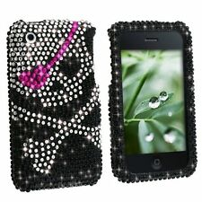 Bling Rhinestone Protector Case for Apple iPhone 3G/3GS - Skull