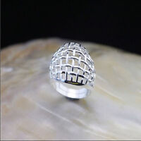 925 Solid Sterling Silver Plated Women/Men Parachute Fashion Ring Gift SIZE OPEN