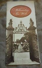 True Vtg 1950s Travel Brochure: Williamsburg, PA (Americana,  Historical Site)