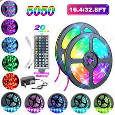 32FT 5050 RGB LED Strip Light SMD Led Tape Lights Color Changing full set Light