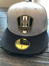 "New Era New Orleans Saints NFL 59Fifty Coach Team Fitted Hat 7"" Hat Who Dat"