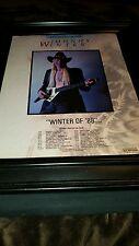 Johnny Winter 1988 Tour Rare Promo Poster Ad Framed!