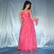 rosa Lurex am Tüllkleid* S 36 * COCKTAILKLEID* Etuikleid* Abendkleid* Ballkleid