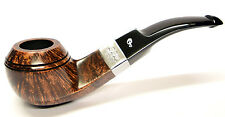 Peterson Kildare Sterling Silver Mounted Bent Rhodesian Pipe (80s)