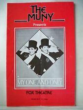 MY ONE AND ONLY Playbill TOMMY TUNE / LUCIE ARNAZ / GEORGE & IRA GERSHWIN 1986